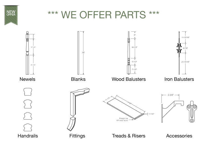 We Offer Also Standard And Custom Stair Parts!